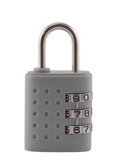 Combination padlock with clipping path