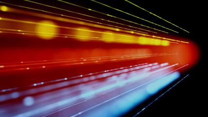 fantastic animation – light object in motion – loop HD