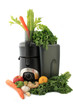 Juicing fresh vegetables and fruit
