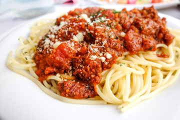 Italian meat sauce pasta