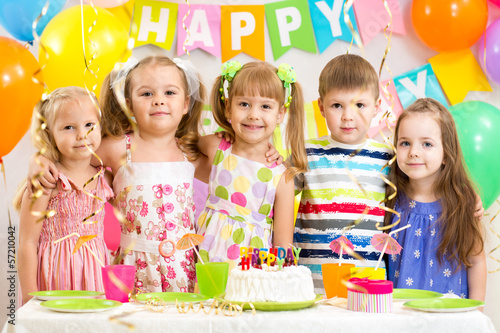 kids celebrating birthday holiday