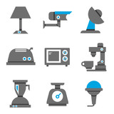 home appliance and electronic device icons