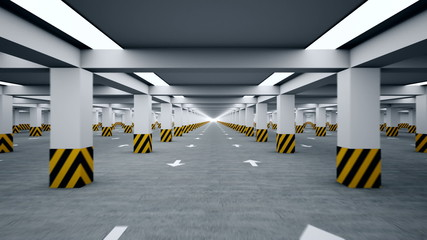 Underground parking repeatly moving