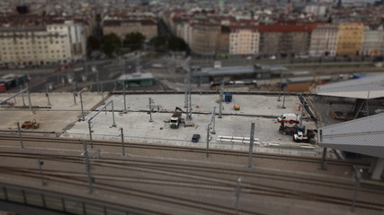 Construction site tilt shift