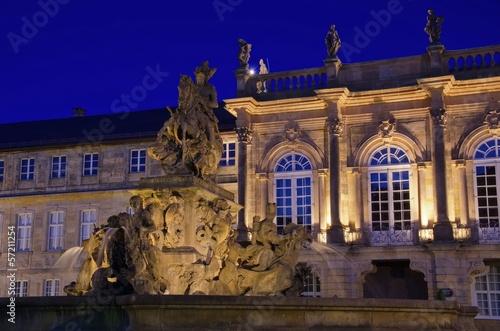 canvas print picture Bayreuth Neues Schloss Nacht 01