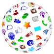 Social Media Sphere Icons