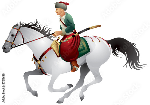 Cossack on the horse