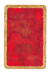old grunge playing card paper red cover background