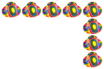 Cornice di Cappelli colorati