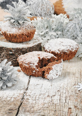 Christmas chocolate muffins