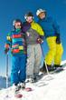 Gruppe Ski- und Snowboardkids
