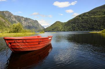 Boot am See in Norwegen