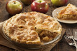 canvas print picture - Homemade Organic Apple Pie Dessert