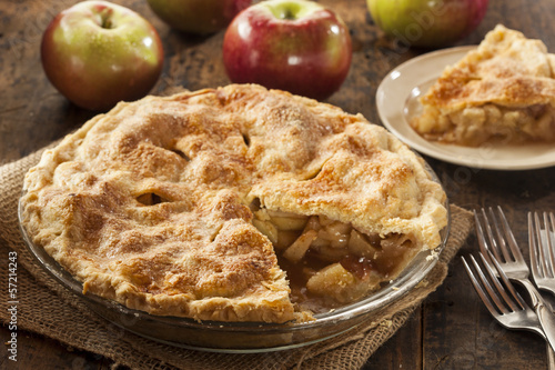 canvas print picture Homemade Organic Apple Pie Dessert