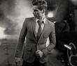 Black&white portrait of handsome man