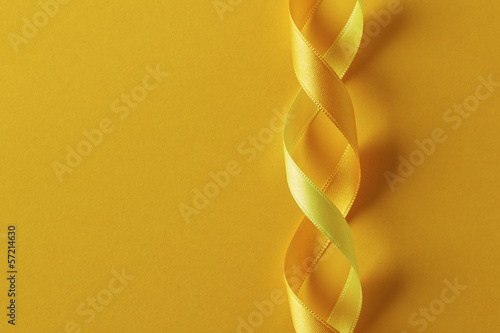 Two twisted yellow ribbons