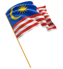3D flag of Malaysia