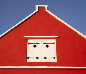 roter Dachgiebel