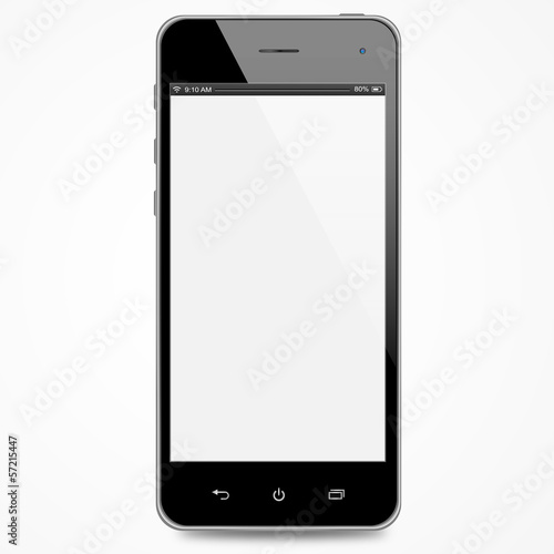 Smartphone with white screen - 57215447