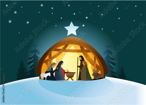 Nativity scene with Holy Family - 57215629