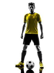 brazilian soccer football player young man standing defiance sil