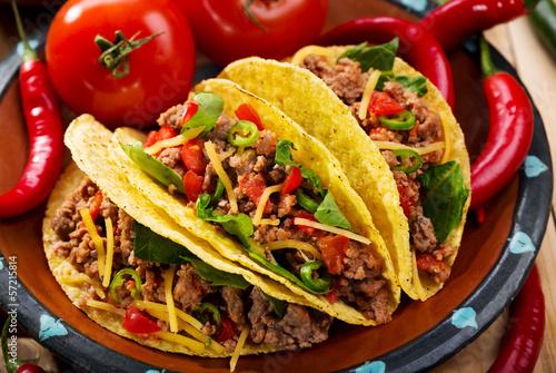 Plagát, Obraz plate of tacos