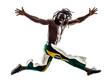 brazilian  black man running jumping