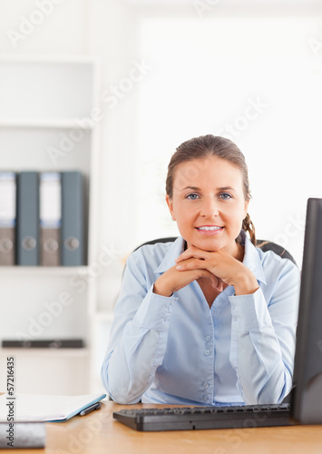 Office worker posing