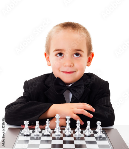 Playing Chess with little boy
