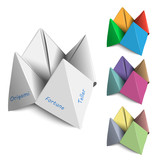 Vector set Origami Fortune Tellers poster
