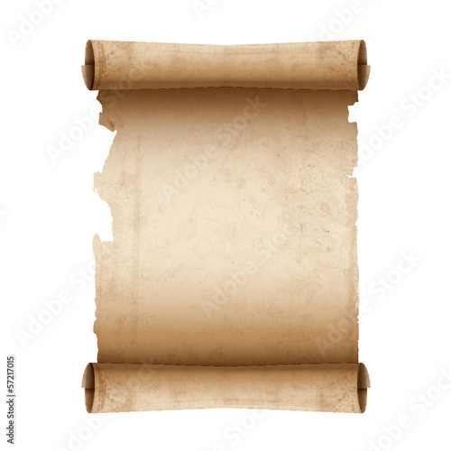 Vector ancient scroll paper