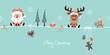 Christmas Santa & Rudolph Symbols Retro