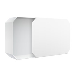Realistic Package Cardboard Sliding Box