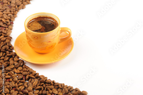 Turkish coffee isolated white backgraund
