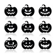 Halloween pumkin vector icons set