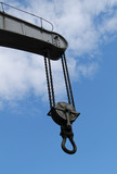 The Lifting Chain of a Heavy Duty Crane Jib.