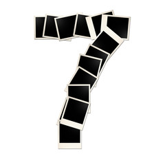 The number seven is made ??up of pictures