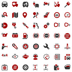 iconset automobile red & black