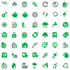 iconset ecology green & gray