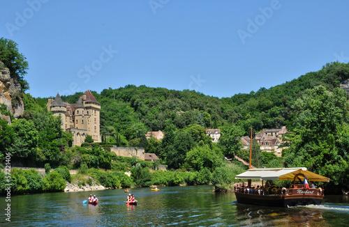 Leinwandbild Motiv France, the picturesque village of La Roque Gageac in Dordogne
