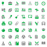 school iconset green & gray