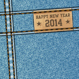 Happy New Year 2014 - Denim texture