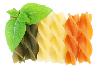 Rotini pasta with basil