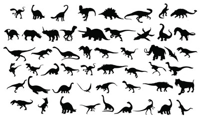 dinosaurs silhouettes collection
