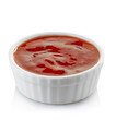 Bowl of red hot chili pepper sauce