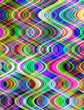 Multicolored digital vertical waves pattern abstract.