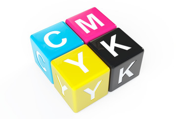 Cube Blocks with CMYK sign