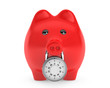 Piggy bank secured with combination lock