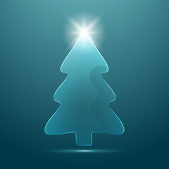 Christmas tree. Vector background.