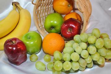 Tipped Over Fruit Basket